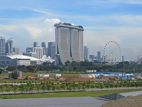 Marina Bay District of Singapore
