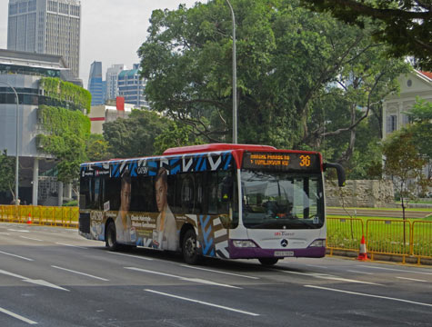 City Bus in Singapore